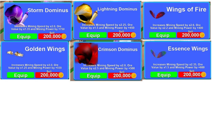 give mythical hats in roblox mining simulator