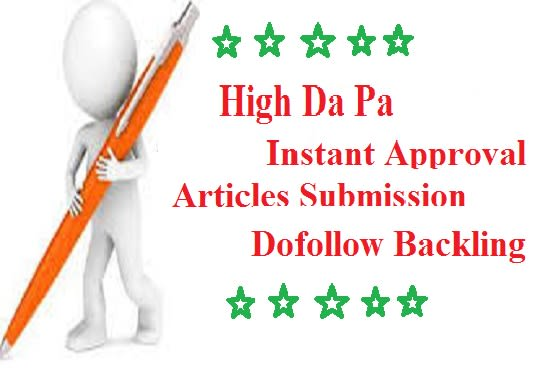 mdmasud333 : I will do manual article submission with dofollow backlinks  for $10 on www fiverr com