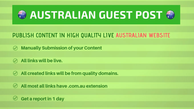 submit 2 guest post content in australian website australia
