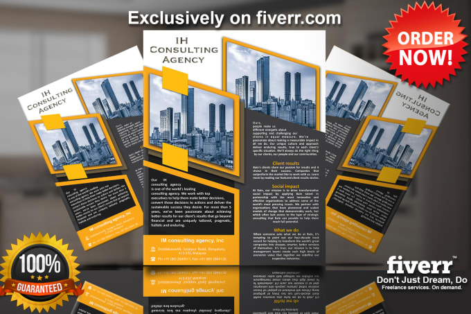 do brochure design business proposal creative flyer designs by