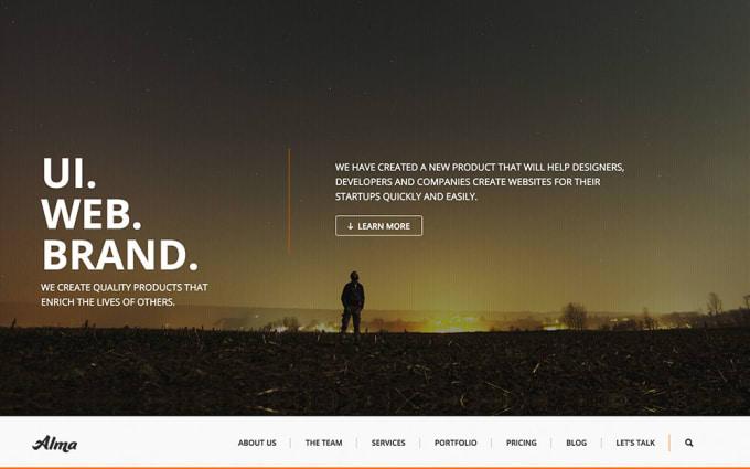 Create A Parallax Website On Wordpress