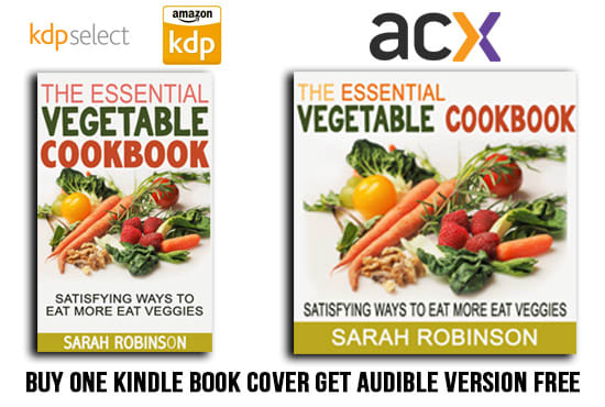 design an eye catching kindle book cover with audible cover