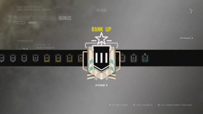 rank you up in rainbow six siege