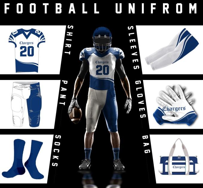 528d2011d Design best american football uniform and 3d mockup by Graphicsguru11
