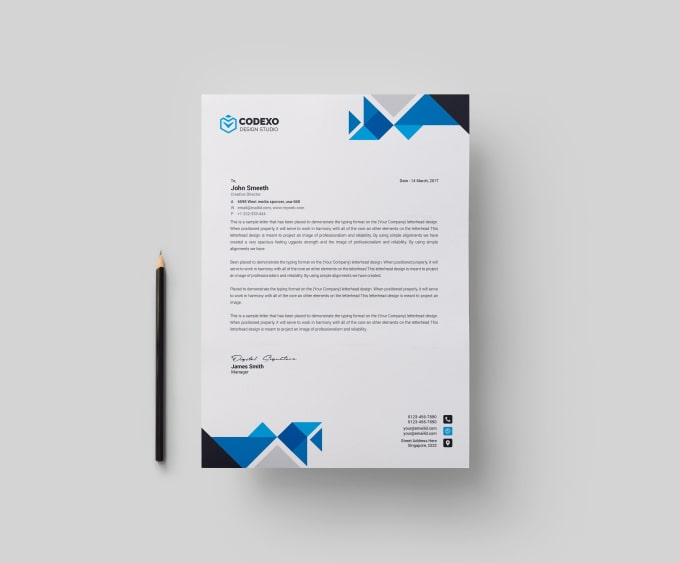 design simple and nice looking letterhead word template by