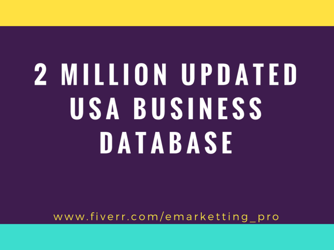 give 2 million 2018 USA email business b2b database