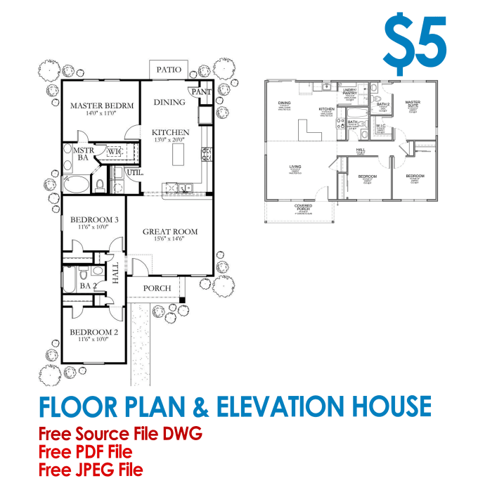 Draw 2d Floor Plan And Elevation House In Auto Cad By Dnlstudio