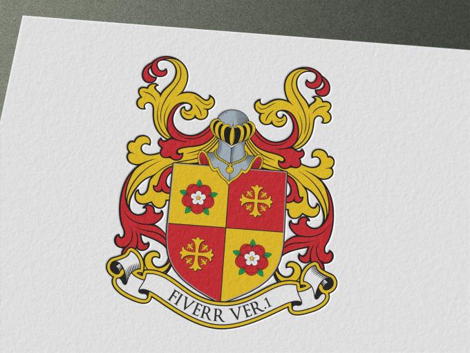 Make Grandiose Heraldic Shield Family Crest From 3 Templates By Deesajn