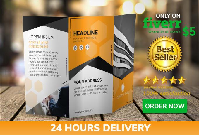 design professional brochure trifold design in 24 hours by designersafia