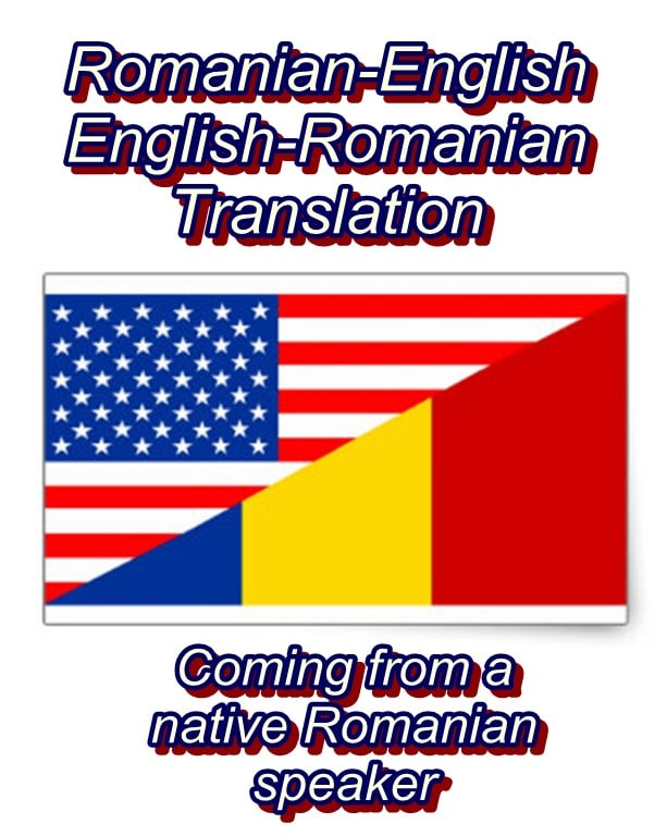 Provide romanian to english and english to romanian translation by ...