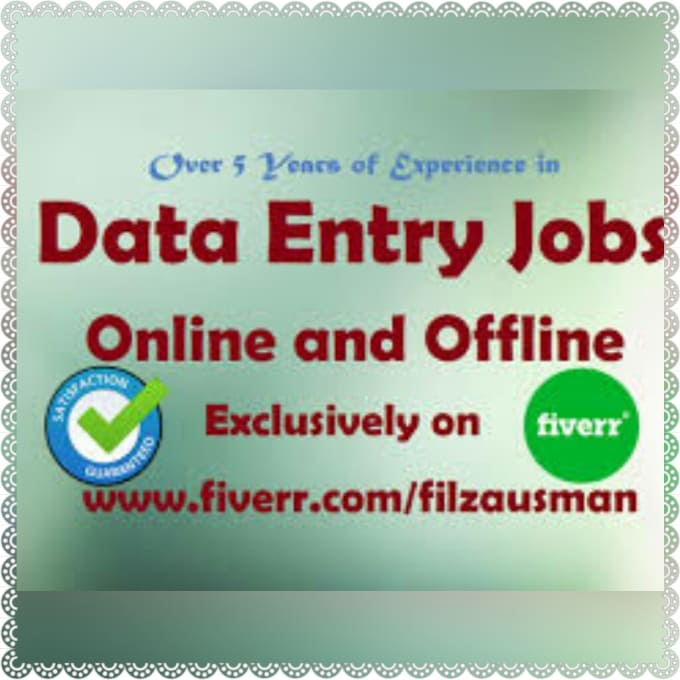 leenapatra25 : I will do online and offline data entry, convert pdf to  word, copy paste for $5 on www fiverr com