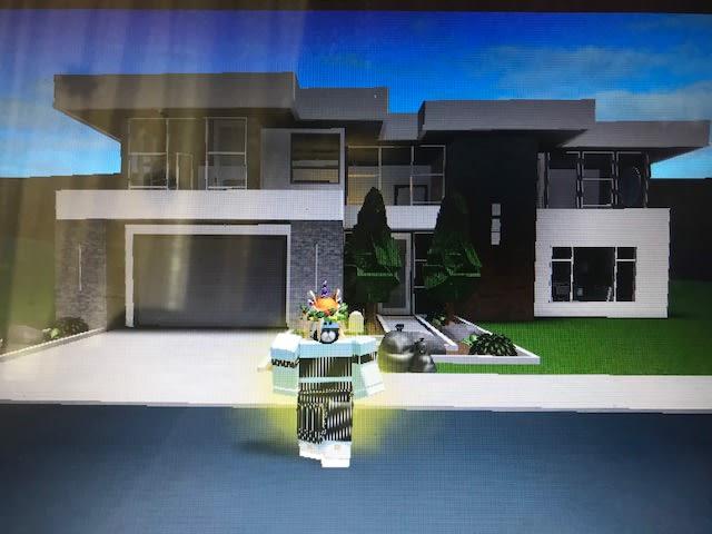 Robloxbloxburg 10000 House New Tutorial - How To Build A Balcony On Roblox Bloxburg Minimalist