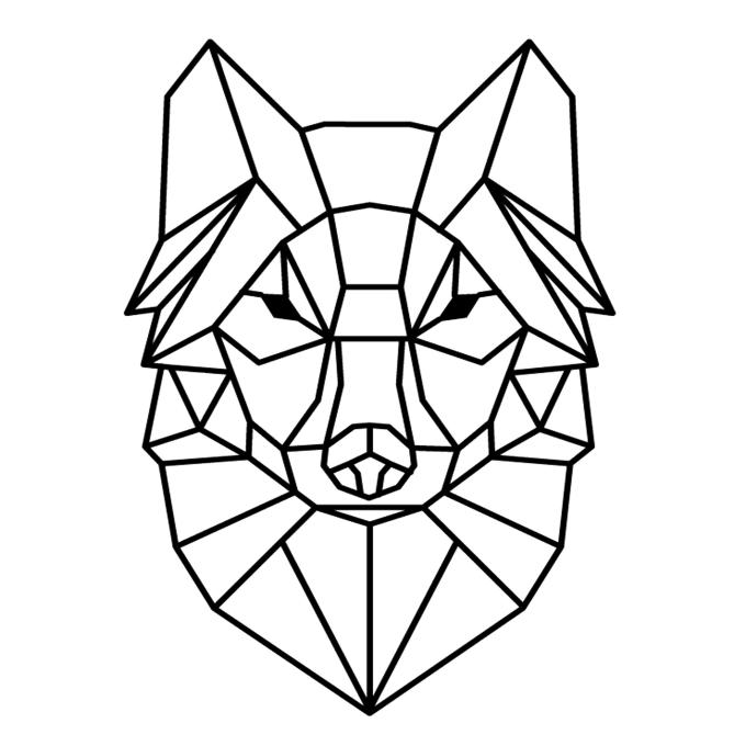Геометрические картинки животных