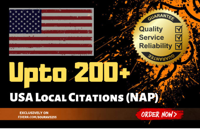 submit USA local citation seo backlinks or nap