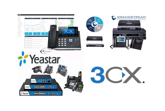 configure voip pbx with grandstream, yeastar and 3cx