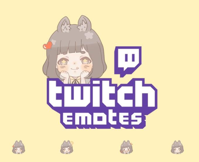 Do cute twitch emotes or badges by Senaco