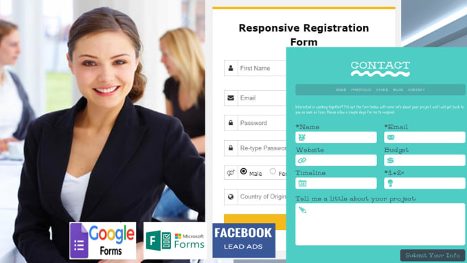 create event registration forms google and facebook forms