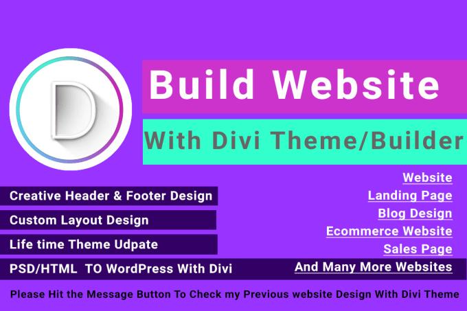 create wordpress divi website by divi expert
