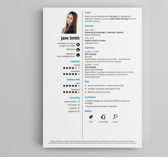 create a resume  cv  cover letter  and linkedin profile by salehs