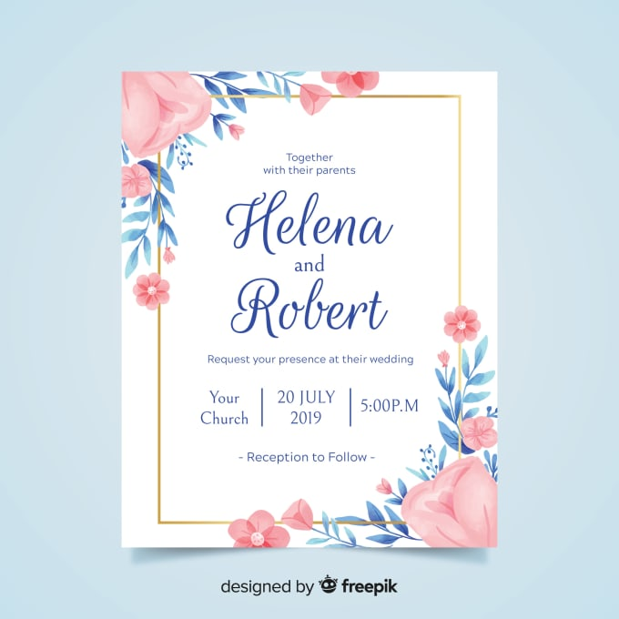 Design elegant invitation cards for your function by Aleenamalik135