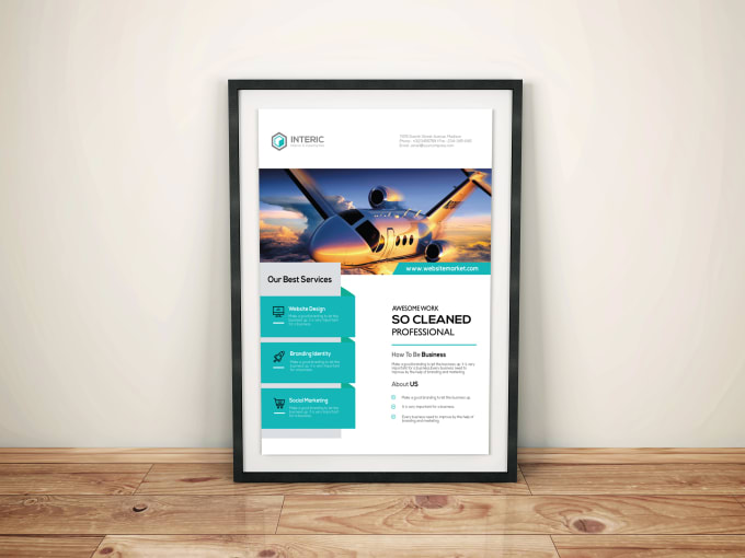 make nice business flyer by imran2634