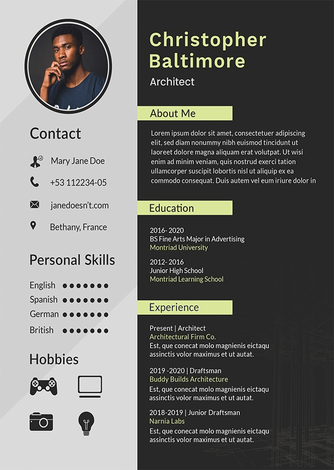 create professional resume curriculum vitae  cover letter