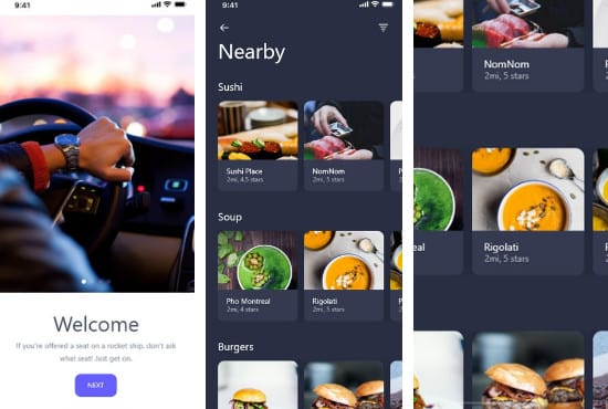 create UI app design prototypes using adobe xd