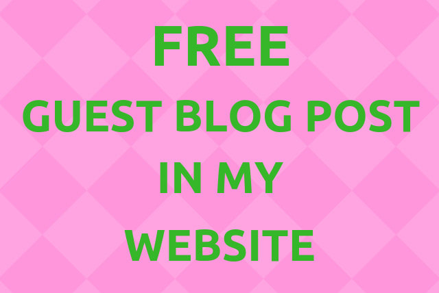vaibhavkumar683 : I will provide free guest blog posting service in my  website for $5 on www fiverr com