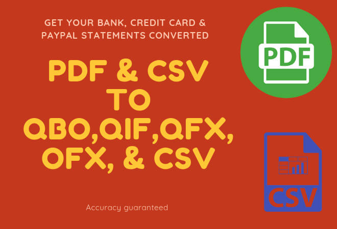 convert your bank statements to csv or qbo