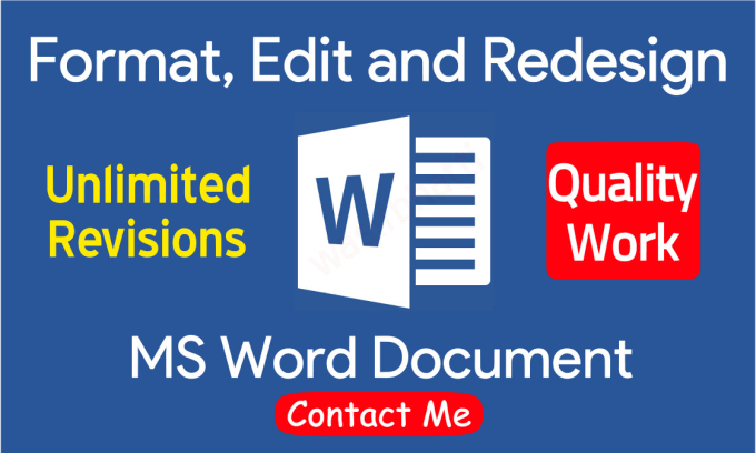 creat or edit microsoft word documents for you by muhammadqais946