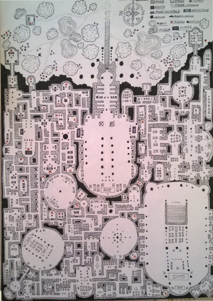 Draw a dungeon map by Ilcorvoartworks Dungeon Map on