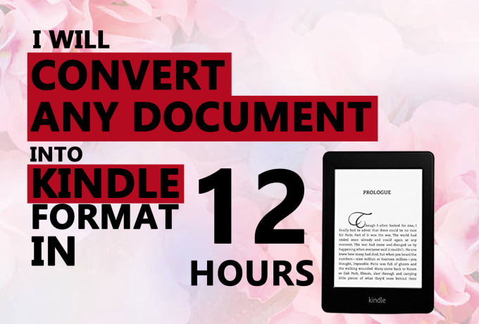 Convert Any File Format Into Kindle Format