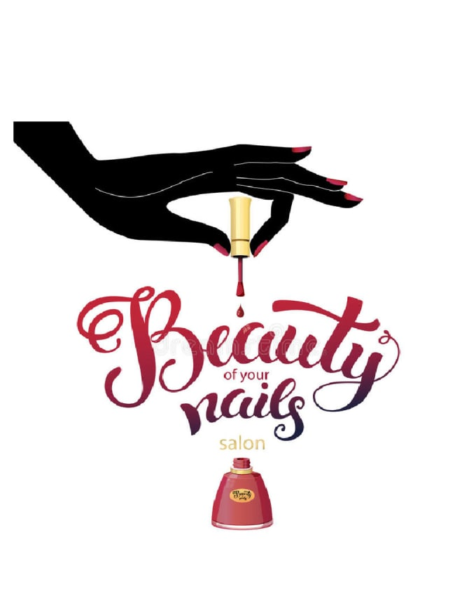 Do nail salon, bar, lip, makeup logo by Rania98