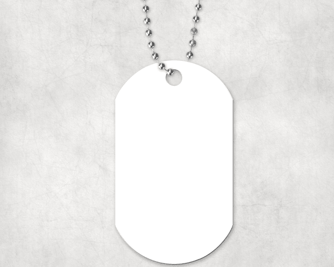 create a personalized dog tag with your image by djacidfx