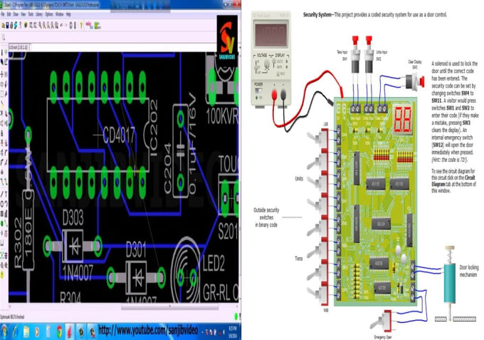 Design pcb layout and schematic on eagle and altium designer by ...