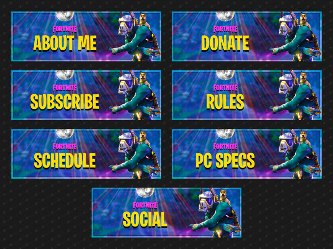 Sell You Premade Fortnite Season 6 Twitch Panels By Jessejaydean