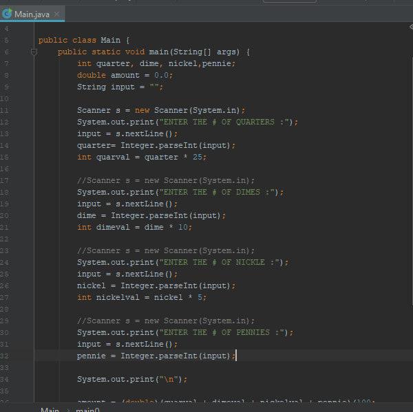 do your java programming