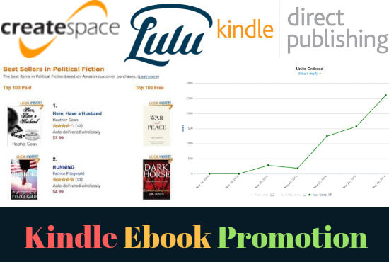 provide ebook promotion to sell more books on amazon kindle