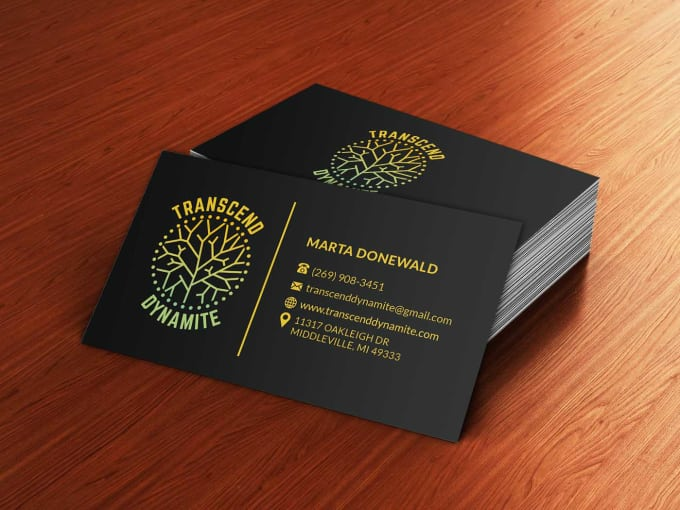 Design Custom 2 Double Sided Business Cards