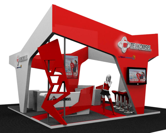 Exhibition Booth Number : Exhibition booth for exhibion by khaina