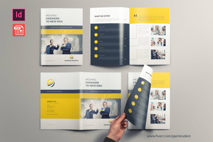 design company profile, brochure, proposal or annual report
