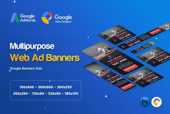 Design Google Adwords Affiliate Web Banner Ads Within 24hrs By