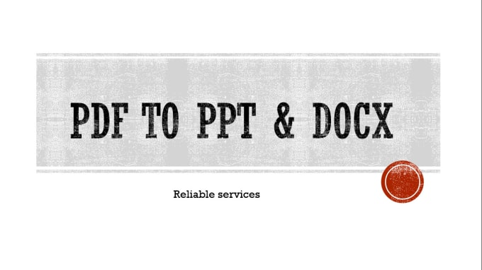 convert your pdf files into ppt docs etc by ghulam murtaza1