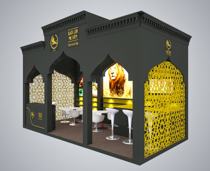 3d Exhibition Stand Design Software : Do create d exhibition stand booth kiosk design by