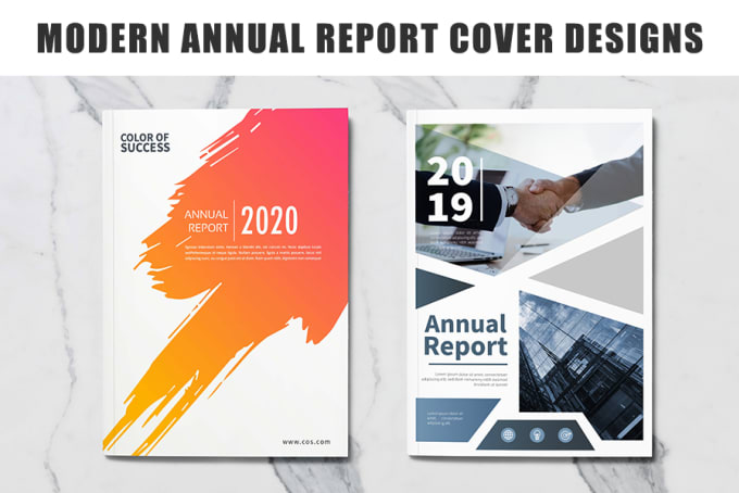 modern annual report cover design by moonlightdarrk