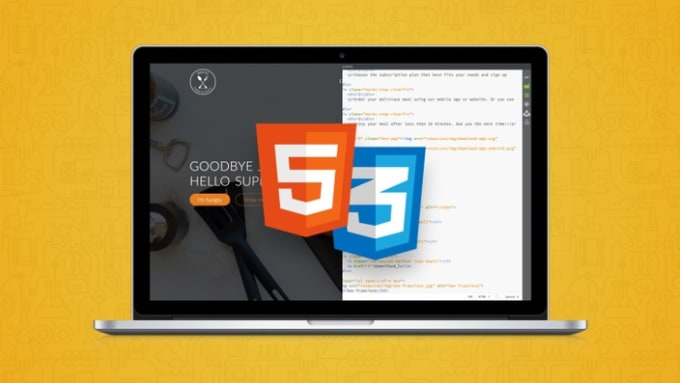 design a single page website using HTML5 css3 and angular 6