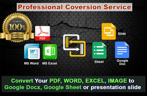 convert your files to google slides sheets and docs by abduldhillon