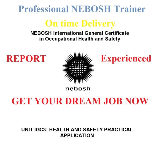Write Nebosh Certificate Level Report For You By Ilyasdurrani