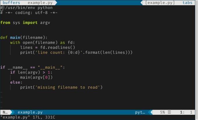 write a command line python script