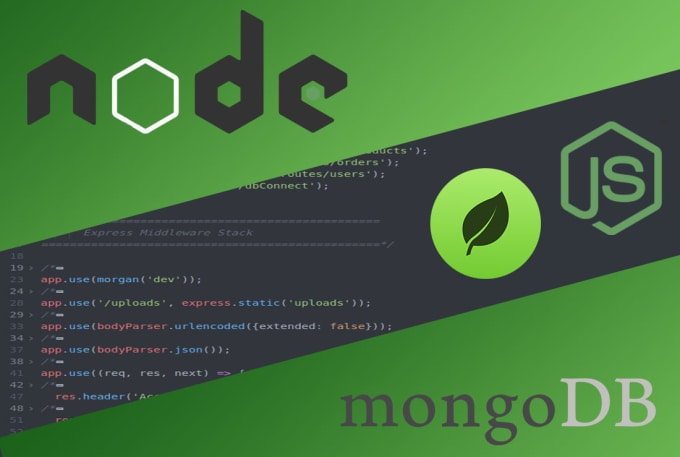 code you a restful API with node and mongo